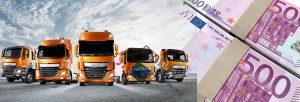 camiones y dinero